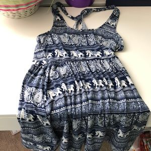 Navy blue elephant dress rarely worn (thrifted)